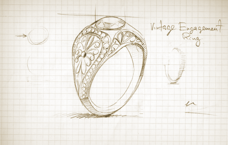Custom Design Engagement Rings