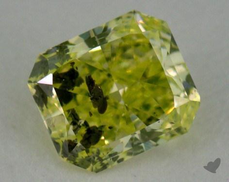 radiant0.29 Carat fancy intense yellowish green