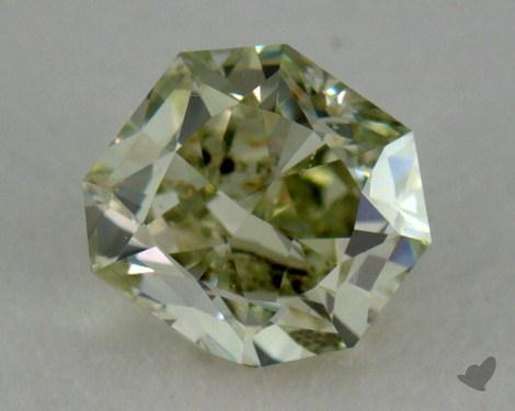 radiant0.31 Carat fancy yellowish green
