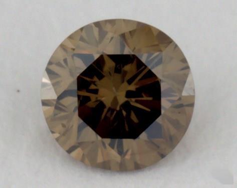 round0.15 Carat fancy dark brownish greenish yellowVS2