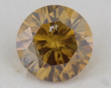 round0.25 Carat fancy deep brownish orangy yellowI2