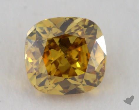 cushion0.36 Carat fancy deep brownish yellowSI1