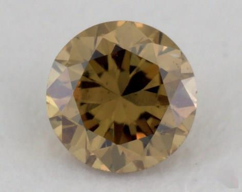 round0.18 Carat fancy deep brownish greenish yellowSI2