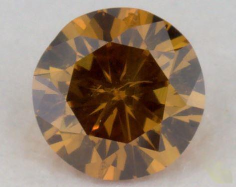 round0.22 Carat fancy deep brownish yellowish orangeI1