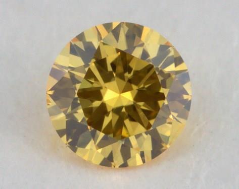round0.14 Carat fancy vivid yellow