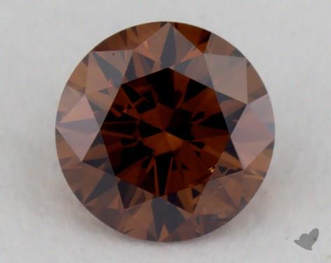 round0.25 Carat fancy deep orange brownI1
