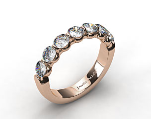 18k Rose Gold 1.00ctw Share Prong Diamond Anniversary Ring