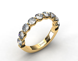 18k Yellow Gold 1.50ctw Share Prong Diamond Anniversary Ring