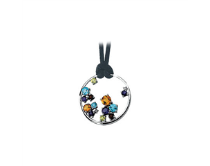 14k White Gold Multi-Gemstone Pendant