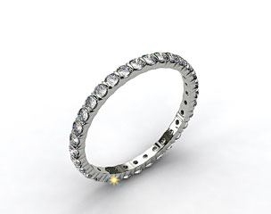 Ladies 0.75ctw* Bar Set Diamond Eternity Ring