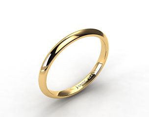 14K Yellow Gold 2mm Knife Edge Women's  Wedding Ring