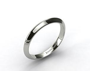 14k White Gold 2.5mm Knife Edge Women's Wedding Ring