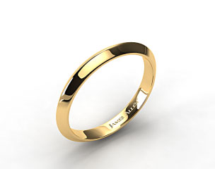 14K Yellow Gold 2.5mm Knife Edge Women's Wedding Band