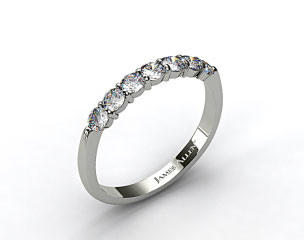 18k White Gold 0.47ct Common Prong Diamond Wedding Ring