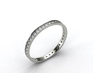 18k White Gold 0.26ct Pave Diamond Eternity Ring
