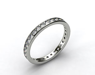 14K White Gold 0.61ct Pave Diamond Eternity Band