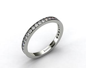 14k White Gold 0.17ct Pave Diamond Wedding Ring