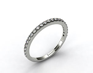 Platinum 0.44ct Common Prong Diamond Wedding Ring