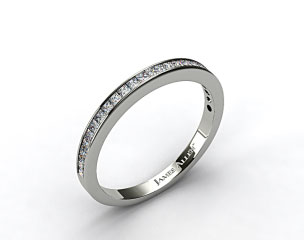 14k White Gold 0.63ct Channel Set Diamond Wedding Ring