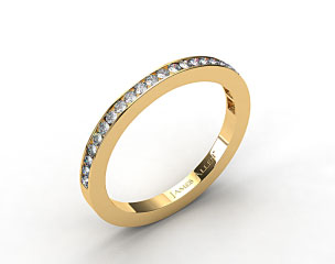 14K Yellow Gold 2mm, 24 Stone, 0.24ctw Matching Channel Set Wedding Band