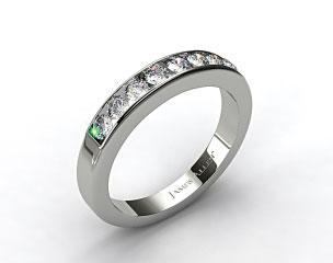 Platinum 0.45ct Channel Set Round Diamond Wedding Ring