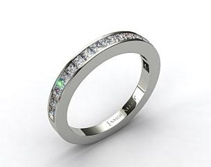 Platinum 0.57ct Channel Set Princess Diamond Wedding Ring