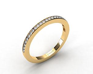 14K Yellow Gold 1.8mm, 25 Stone, 0.25ctw Matching Channel Set Wedding Band