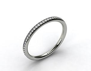 14K White Gold 2mm, 48 Stone, 0.27ctw Matching Pave Wedding Band