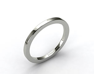 18k White Gold 1.8mm High Polish Wedding Ring