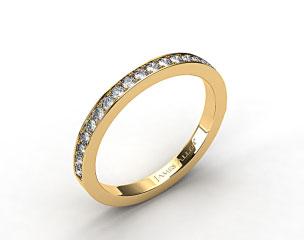 14K Yellow Gold 1.8mm Pave Set Wedding Ring