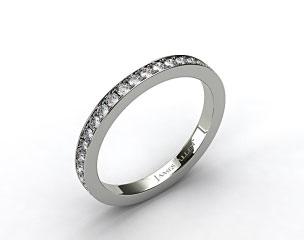 14K White Gold 1.8mm Pave Set Eternity Ring