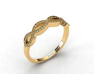 14K Yellow Gold Vintage Infinity Wedding Band