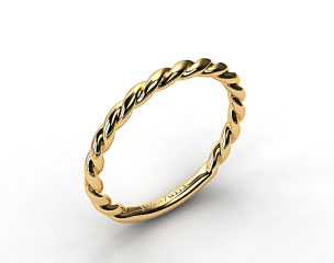 14K Yellow Gold Cable Wedding Band