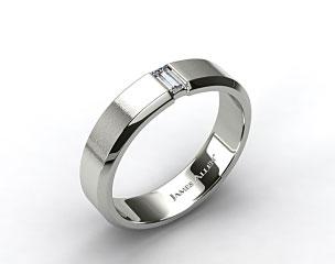 14K Rose Gold 7mm Men's Diamond Wedding Ring