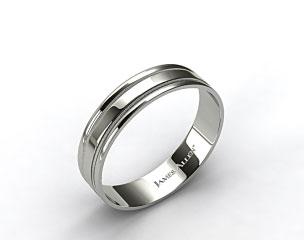 14K Rose Gold 6mm Milgrained Edge Comfort Fit Wedding Band