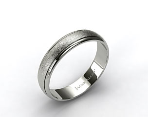 Platinum 6mm Hammered Comfort Fit Wedding Band