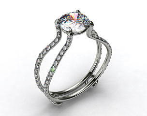 14k White Gold ZE122 by Danhov Designer Engagement Ring
