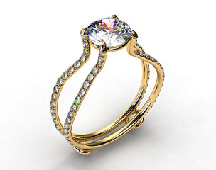 18k Yellow Gold ZE122 by Danhov Designer Engagement Ring