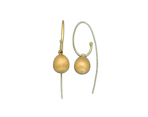 18k Yellow Gold Fashion Earrings