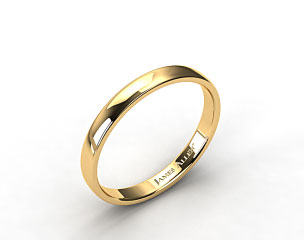 14k Yellow Gold 3.5mm Slightly Flat Comfort Fit Wedding Ring