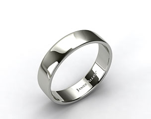 Platinum 6.5mm Slightly Flat Comfort Fit Wedding Ring
