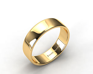 18k Yellow Gold 7.5mm Slightly Flat Comfort Fit Wedding Ring