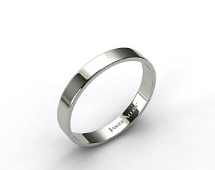 Platinum 4.0mm Flat Comfort Fit Wedding Ring
