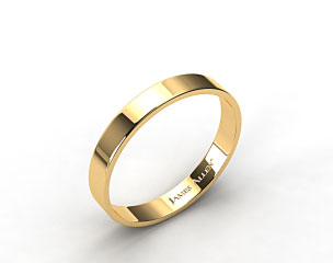 14k Yellow Gold 4.0mm Flat Comfort Fit Wedding Ring