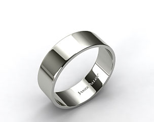 Platinum 8.0mm Flat Comfort Fit Wedding Ring