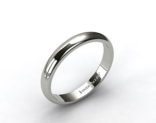 14k White Gold 4.0mm High Dome Comfort Fit Wedding Ring