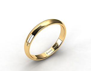 14k Yellow Gold 4.0mm Low Dome Wedding Ring