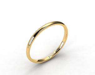 18k Yellow Gold 2.0mm Traditional Slightly Curved Wedding Ring