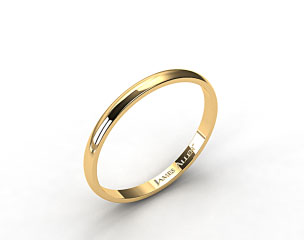 14k Yellow Gold 2.5mm Traditional Slightly Curved Wedding Ring