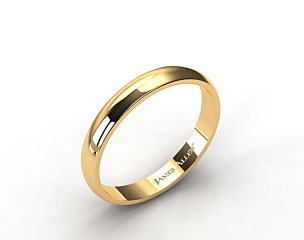 18k Yellow Gold 4.0mm Traditional Slightly Curved Wedding Ring
